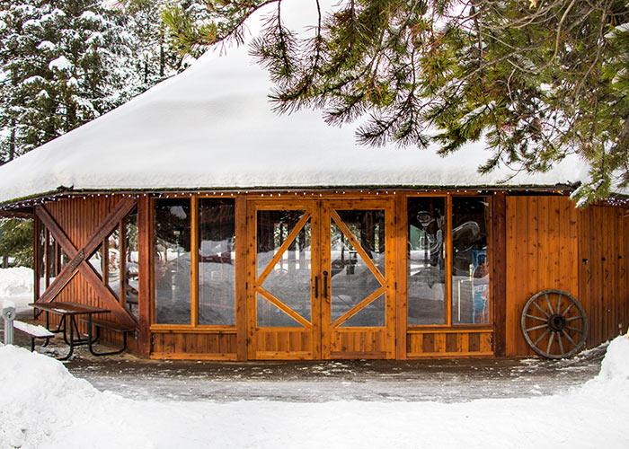 Great Canadian Gazebo in winter