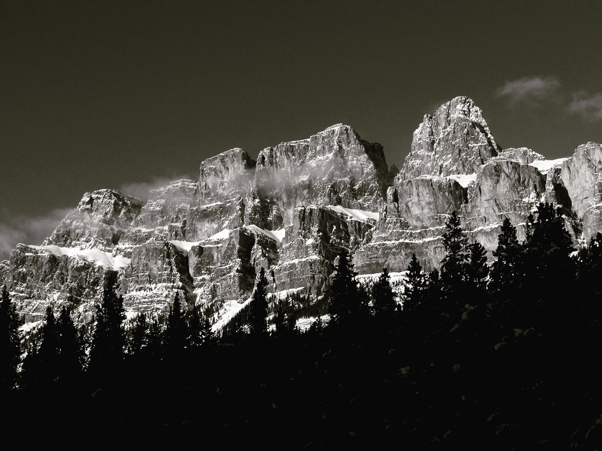 Castle Mountain (Siksika: Miistukskoowa) is a mountain located within Banff National Park in the Canadian Rockies, approximately halfway between Banff and Lake Louise.