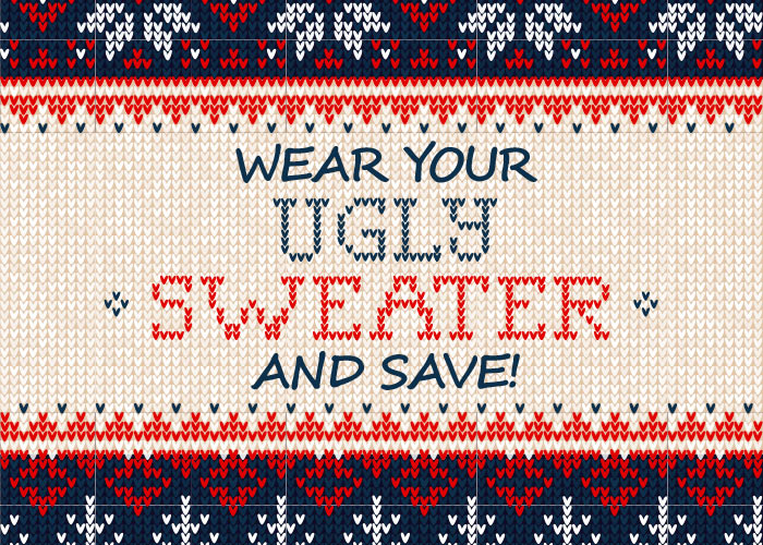 wear your ugly sweater and save