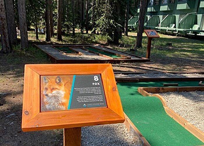 Hole Inn One mini golf course at Lake Louise Inn